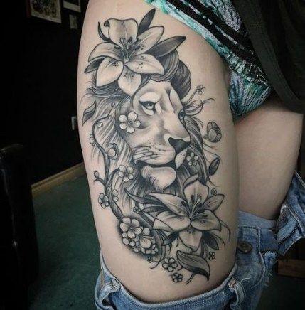 53 Ideas Tattoo Thigh Animal Leo For 2019 Thigh Tattoos Women Hip Tattoos Women Shoulder Tattoo