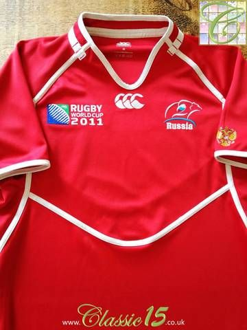 Official Canterbury Russia Home Rugby Shirt From The 2011 World Cup Classic Rugby Shirts Vintage Rugby Shirts Rugby Shirt