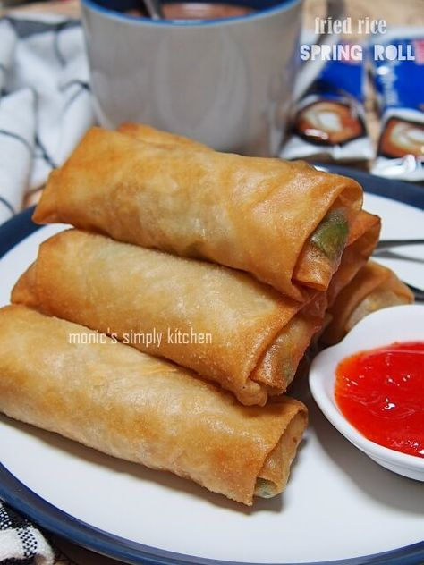 Fried Rice Spring Roll Lumpia Semarang Resep Masakan Makanan Dan Minuman