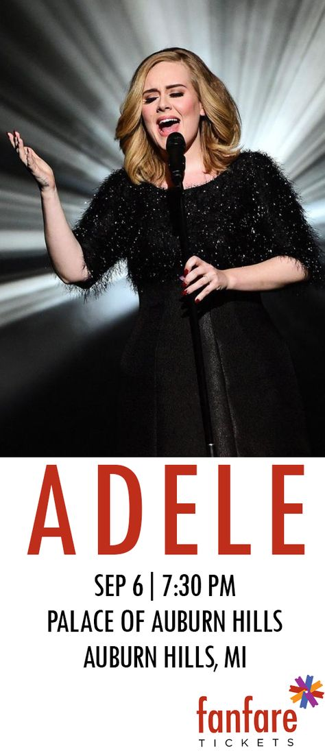 Adele on tour in Michigan- Tickets on sale now!