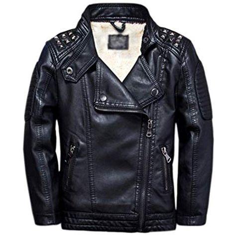 Giacca in pelle giacca da biker con molte borchie
