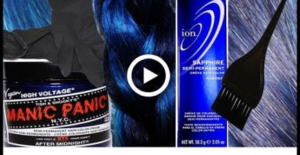 Blue Hair Color Results Testing Manic Panic After Midnight Ion