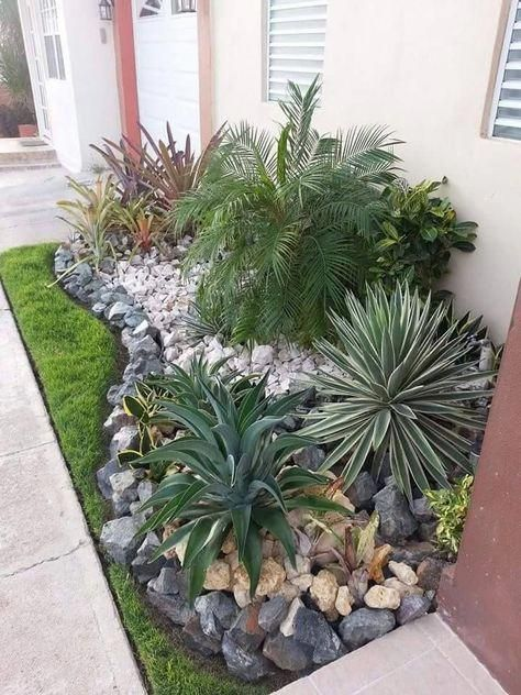 Landscaping Ideas For The Front Yard Better Homes And Gardens Onbudget Landscaping Lowmaintenan Easy Landscaping Front Yard Garden Rock Garden Landscaping