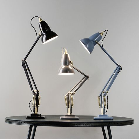 anglepoise original 1227 brass desk lamp deep slate
