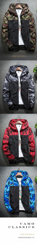 Hunter - Slim Fit Camouflage Zip-Up Jacket