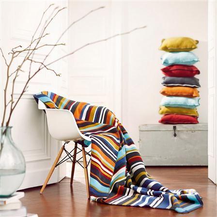 Biederlack Ethno Lima Throw Multi Sale Design Throw Blanket Bean Bag Chair