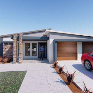 2 Bedroom House Plan Mlb 1816s Modern House Facades Bedroom House Plans Flat Roof House