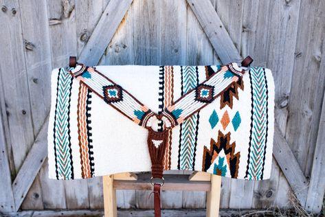 Alpine Meadow Breast Collar & Saddle Blanket Set — LB Arrow Cinch Co. Horse Gear, My Horse, Horse Tips, Riding Hats, Horse Riding, Westerns, Drawing, Barrel Racing Tack, Barrel Saddle