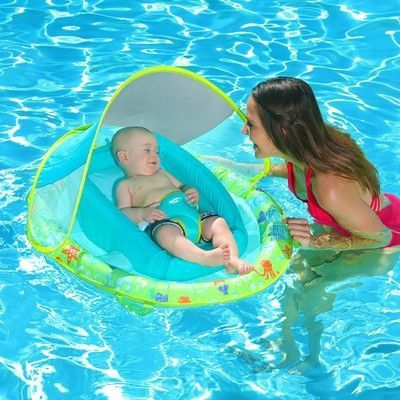 Swimways Fabric Infant Baby Spring Swimming Pool Float With Canopy 2 Pack Baby Baby Canopy Fabric Float I Baby Swimming Baby Pool Floats Baby Pool