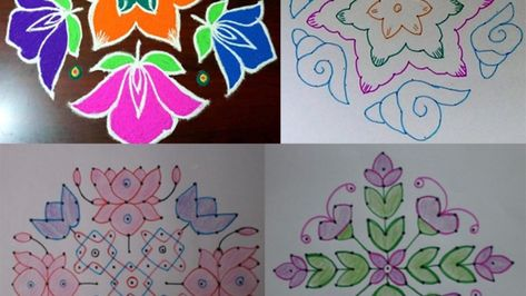 9 Special 15 Dots Rangoli Designs to Try in 2019