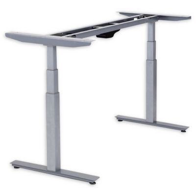 Rise Up Electric Adjustable Height Standing Desk Frame In Grey