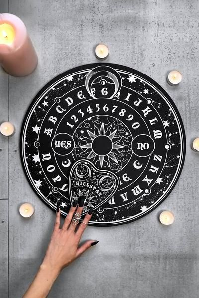 Mystic Round Spirit Board # killstar # wearekillstar We introduce you to our newest talking board, highly collectible and in limited numbers - with no RESTOCK! Newly upgraded quality wooden board, with contrasting celestial print to front.