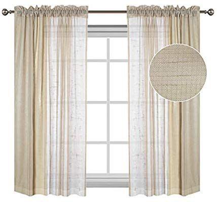 Swell Amazon Com Flamingo P Linen Textured Sheer Curtains Rod Download Free Architecture Designs Intelgarnamadebymaigaardcom