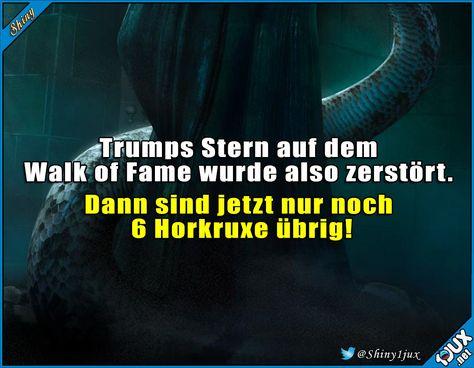 Seine Frisur ist bestimmt auch einer! #Trump #Nachrichten #WalkofFame #Stern #schwarzerHumor #Humor