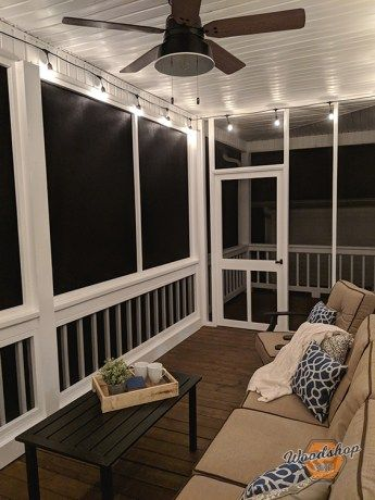 How to Restore, Update, and Screen in a Porch - Woodshop Mike - Modern Design Screened In Porch Diy, Screened Porch Designs, Home Porch, Porch With Screen, Porch To Patio, Backyard Porch Ideas, Back Porch Designs, Screened In Porch Furniture, Porch Veranda