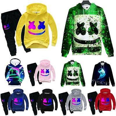 DJ Marshmallo Kids Hoodie Sweatshirt /& Pant Outfit Tracksuit Fancy Dress Costume