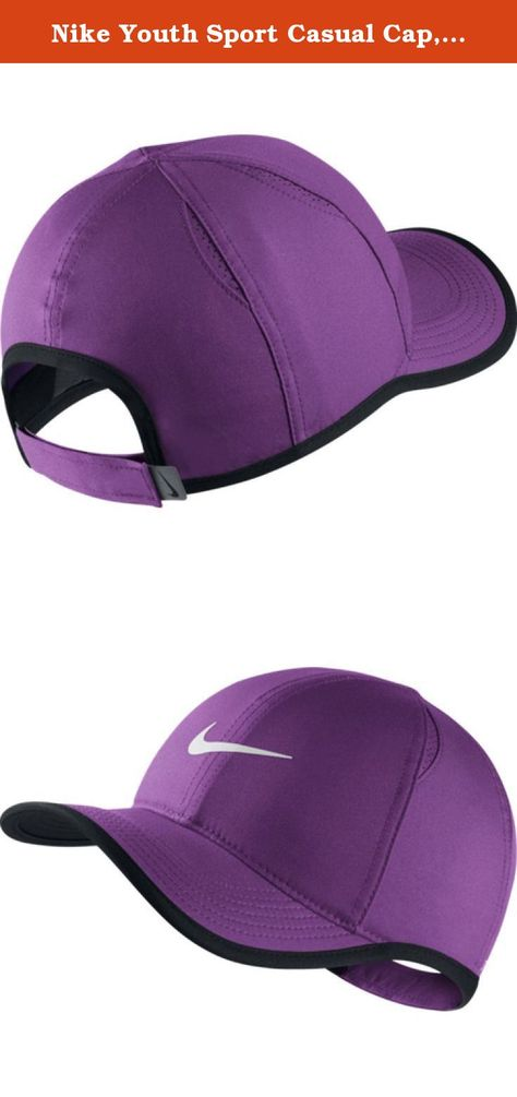 f2ef44655bafd ADJUSTABLE. BREATHABLE. The Nike Featherlight Kids  Adjustable Hat combines  a sweatband with Dri-FIT fabric that wicks sweat away to help ...