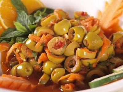 وصفات مخلل الزيتون الأخضر بالجزر والشطة Cooking Recipes Food Cooking