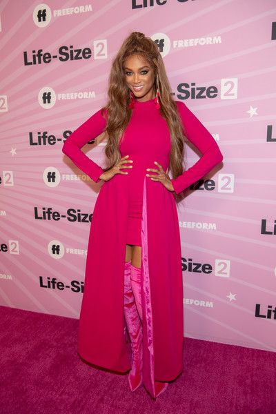 Tyra Banks attends the premiere of 'Life Size 2' at the Hollywood Roosevelt Hotel.