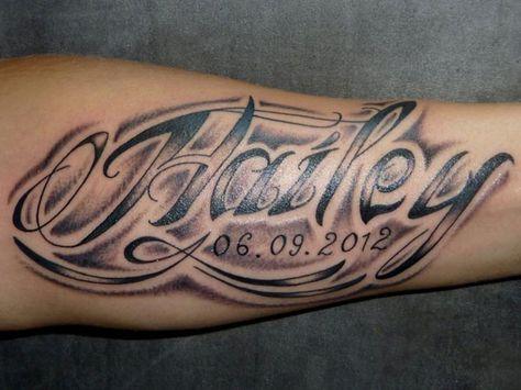 Namen mit männer tattoos Namen Tattoo