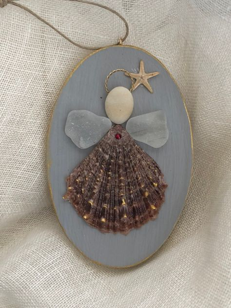 Excited to share the latest addition to my #etsy shop: Coastal angel/shell angel /seaglass angel /shell ornament/beach ornament /beach wedding gift/Coastal Christmas/seaglass ornament/seaglassart #angelornament #remembranceornament