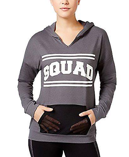 Material Girl Active Juniors' Graphic Hoodie. Small. Heather Charcoal    Graphic hoodies, Material girls, Hoodies