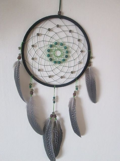 "Large Dream catcher ""Malachite""Dream Catcher Wall hanging , Authentic Dreamcatcher, Native American"