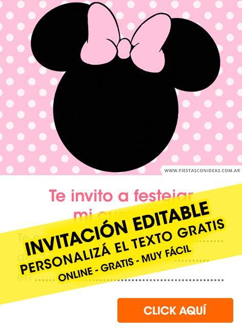 Tarjeta De Cumpleaños De Minnie Mouse Invitaciones Minnie