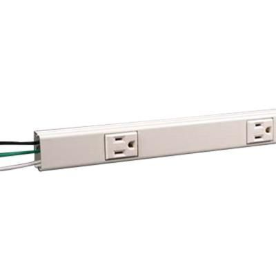 Wiremold V20gb306 125 Volt 15 Amp 6 Outlet 2000 Series 2 Piece 3 Wire 1 Channel Multi Outlet Strip Ivory Plugmold Reg Outlet Strip Channel Multi