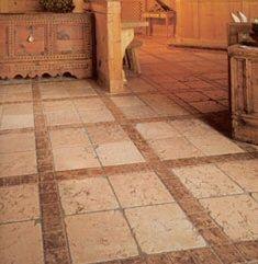 tumbled marble tile flooring