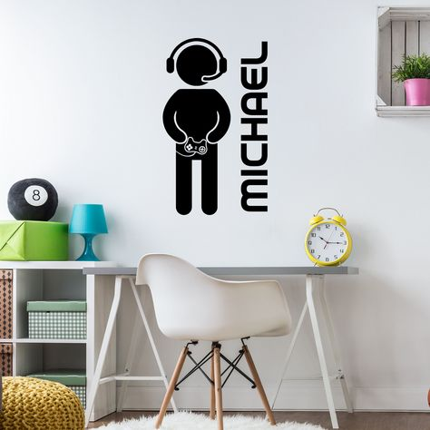 Personalized Gamer Wall Decal Personalised Game Controller Wall