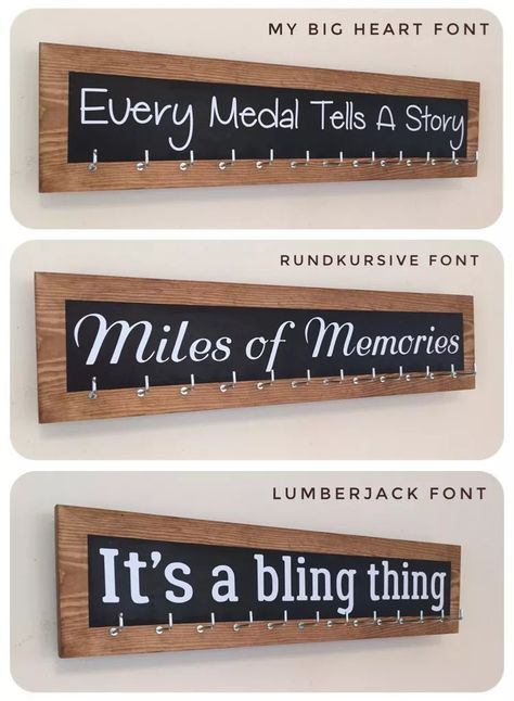 It's a Bling Thing - Personalised Medal Hanger Displays Trophy Display, Award Display, Running Bib Display, Race Medal Displays, Medal Hangers, Sports Medals, Running Medals, Crafts To Do, At Least