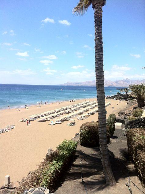 Peurto del carmen, Lanzarote. Beautiful beach.