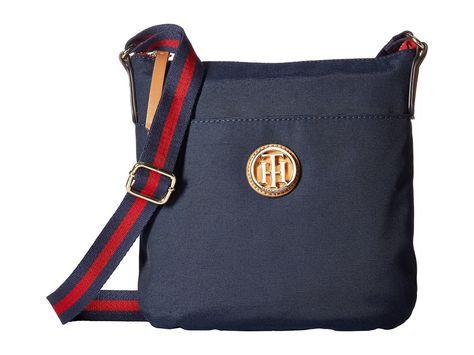 TOMMY HILFIGER Ivy North/South Crossbody. #tommyhilfiger #bags #shoulder bags #canvas #crossbody #