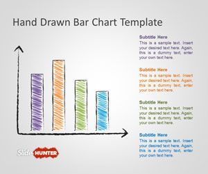 hand drawn bar chart template for powerpoint is a free powerpoint, Modern powerpoint