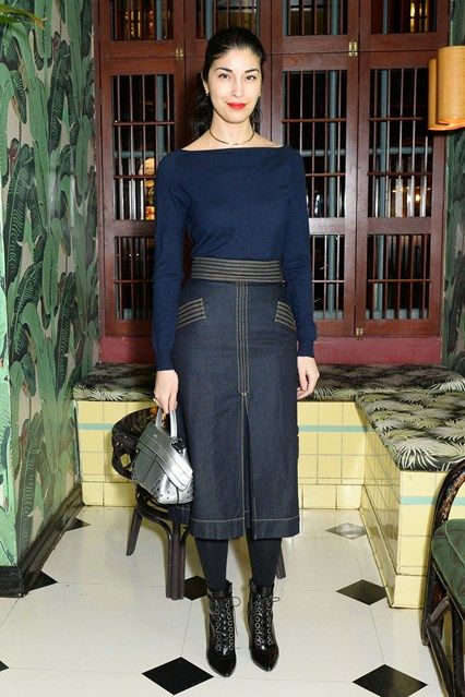 Caroline Issa in Olivia Palermo x Chelsea 28 - Nordstrom party, New York - February 2016