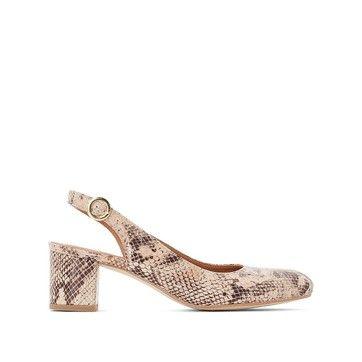d6838d55 Chaussures bride arrière en cuir effet python BALZAC PARIS X LA ...