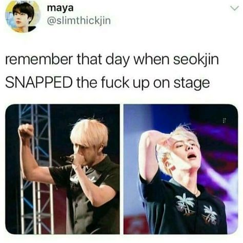 Blonde jin was powerful #bts #btsarmy << LOOK AT THEM MUSCLES THO HOLY DAMN