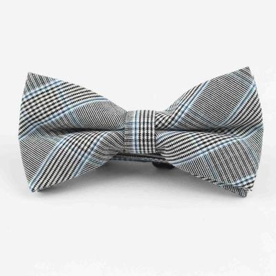 MENS Blue Indigo COTTON BOW TIE POCKET SQUARE WHITE 100/% SILK Hanky Handkerchief