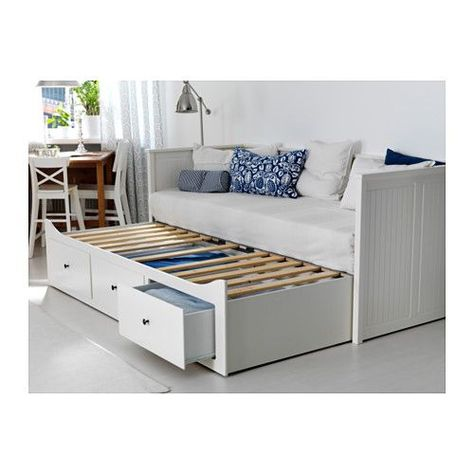 Hemnes Letto.Hemnes Daybed Frame With 3 Drawers White Meistervik Firm White