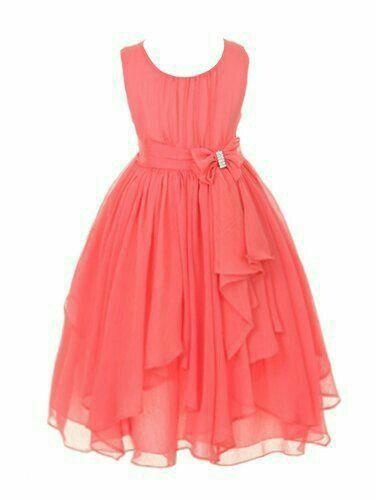 6a0a37f6e7237 Divino   Bodas Rubí   Flower girl dresses, Girls coral dress y Girls ...