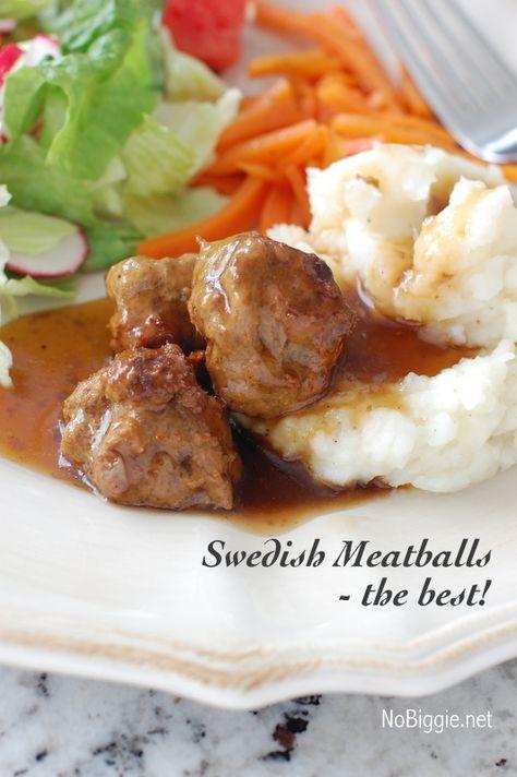 Swedish Meatballs - the best!   NoBiggie.net