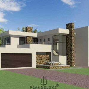 Double Story 4 Bedroom House Plan Modern House Plans Plandeluxe Bedroom House Plans Ranch House Designs House Fence Design