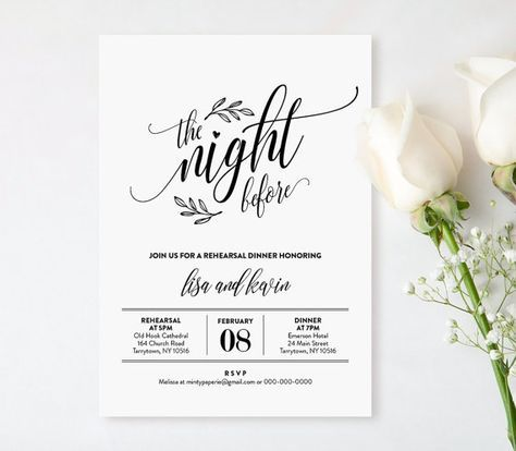 Wedding Rehearsal Dinner Printable Diy
