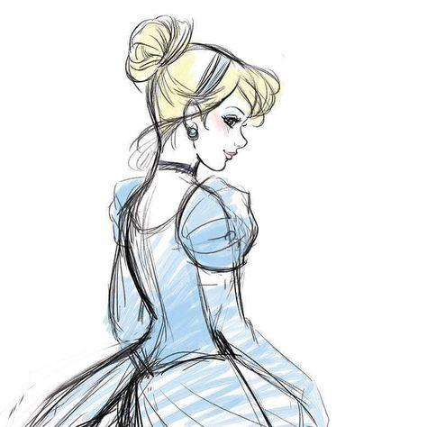 Quick Cinderella sketch. #drawing #portrait #disney #disneyprincess #cinderella #disneyarts #kopciuszek