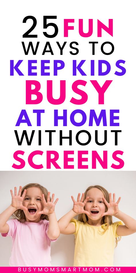 Are your kids going stir-crazy because they don't have anything to do while school is out? Check out this list of 25 fun ideas for keeping kids busy so you can get things done! #keepingkidsbusy #keepkidsbusy #kidsactivities #kidhacks #funthingstodowithkids