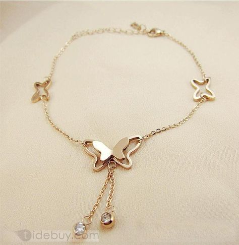 Shop Elegant Butterfly Bracelet/Ankle Chain on sale at Tidestore with trendy design and good price.