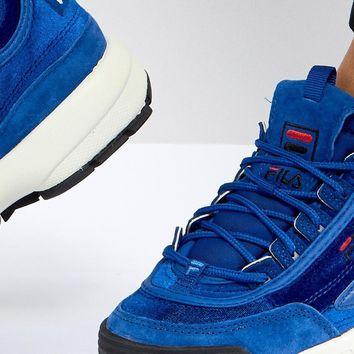 Fila Disruptor Sneaker In Blue Velvet