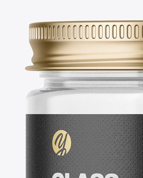 Clear Glass Jar Mockup In Jar Mockups On Yellow Images Object Mockups In 2021 Clear Glass Jars Glass Jars Clear Glass