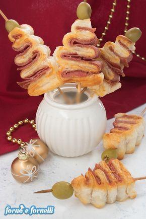 Alberelli di Natale di pasta sfoglia: idea antipasto ...